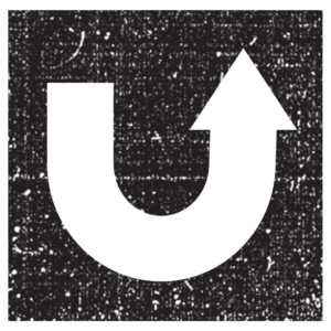 Square u-turn icon