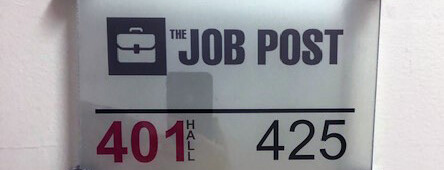 the job post's sign at new location