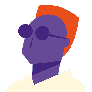illustration of a cool person wearing sunglasses