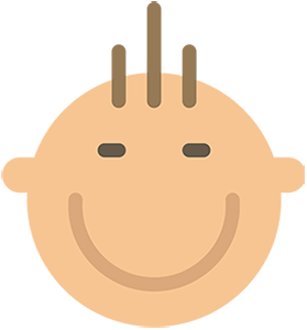 illustration of a smiling baby